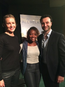 All smiles with actress  Connie Neilsen and Director J.C Khoury