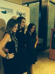 Brooke Shields and the MOMS (Denise(R and Melissa (L) ) at midtown's  Homeward Suite by Hilton hotel on Nov 17