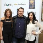 Actor Patrick Gallagher is in great company with the MOMS Denise[L] and Melissa[R] at the Crosby Street  Hotel's screening Room Dec 18