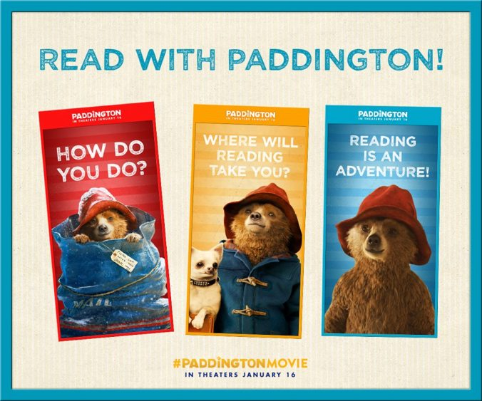 You  kids can pick up a book and read along with Paddington at bookstores  nationwide