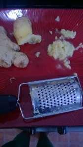 Frozen  ginger-root grated