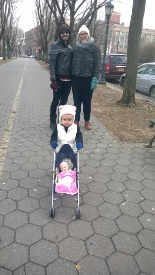 Magnolia alongside mum and dad