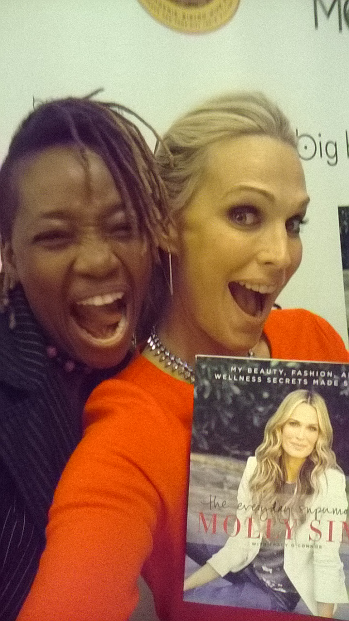 RED, HOT  AND LOVING HER 40s MOLLY SIMS TELLS-IT-LIKE-IT-IS IN NEW BOOK  by Debra Lewis-Boothman