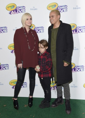Ashlee Simpson Ross with her son Bronx and husband Evan Ross