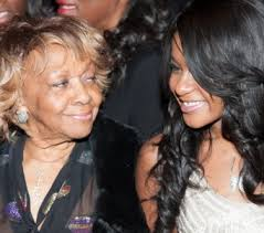 Bobbi Kristina and her grandmother Cissy Houston