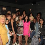 Melissa Rivers poses with mom bloggers  in NYC