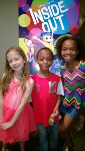 Three cute NYC kids attending Pixar's 'Inside Out'