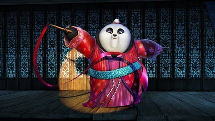 Kate Hudson plays the adorable ribbon dancing panda diva Mei Mei