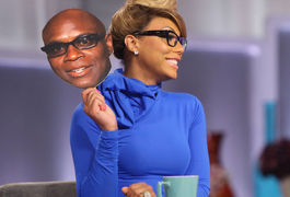 Tamar Braxton during happier times on The Real