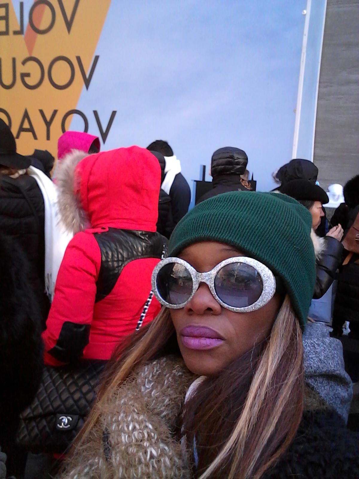 "Debra at  the NYC ""Volez, Voguez, Voyagez – Louis Vuitton exhibition  photo by @debrafrombrooklyn"