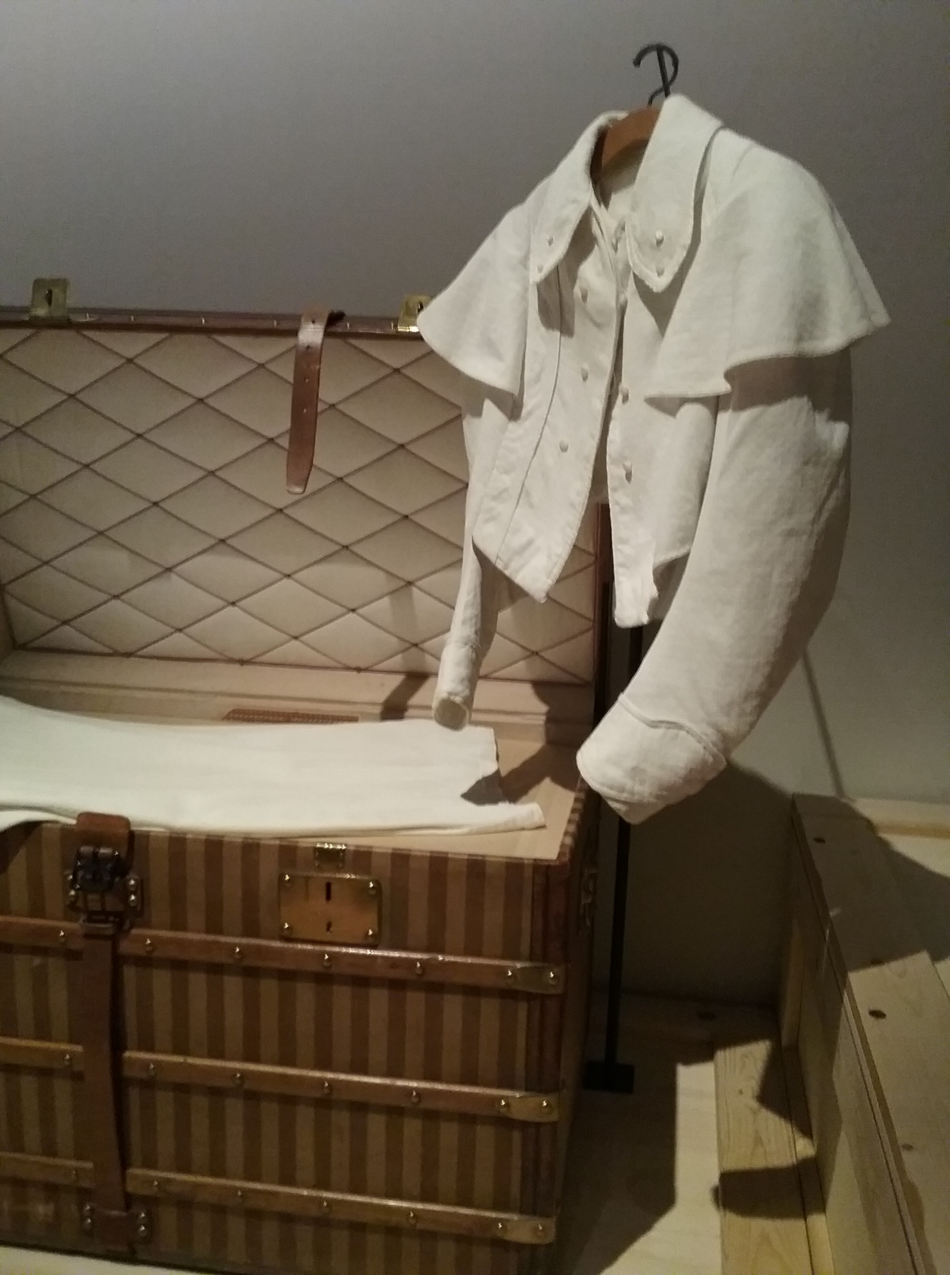 Early Louis Vuitton fashions -from the Volez, Voguez, Voyagez – Louis Vuitton exhibition in NYC -photo by @debrafrombrooklyn
