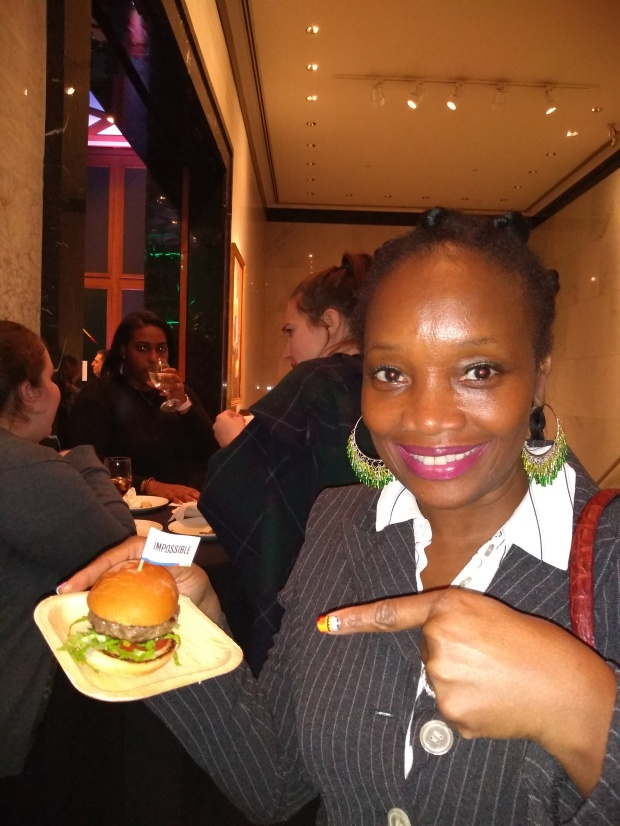 @debrafrombrooklyn is all smiles as she snags a much in demand Impossible Burger